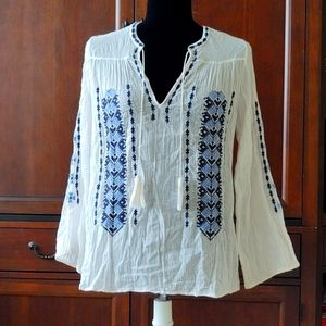 Joie embroidered peasant blouse